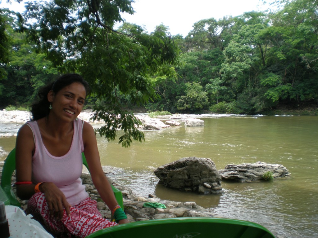 Cris on the river