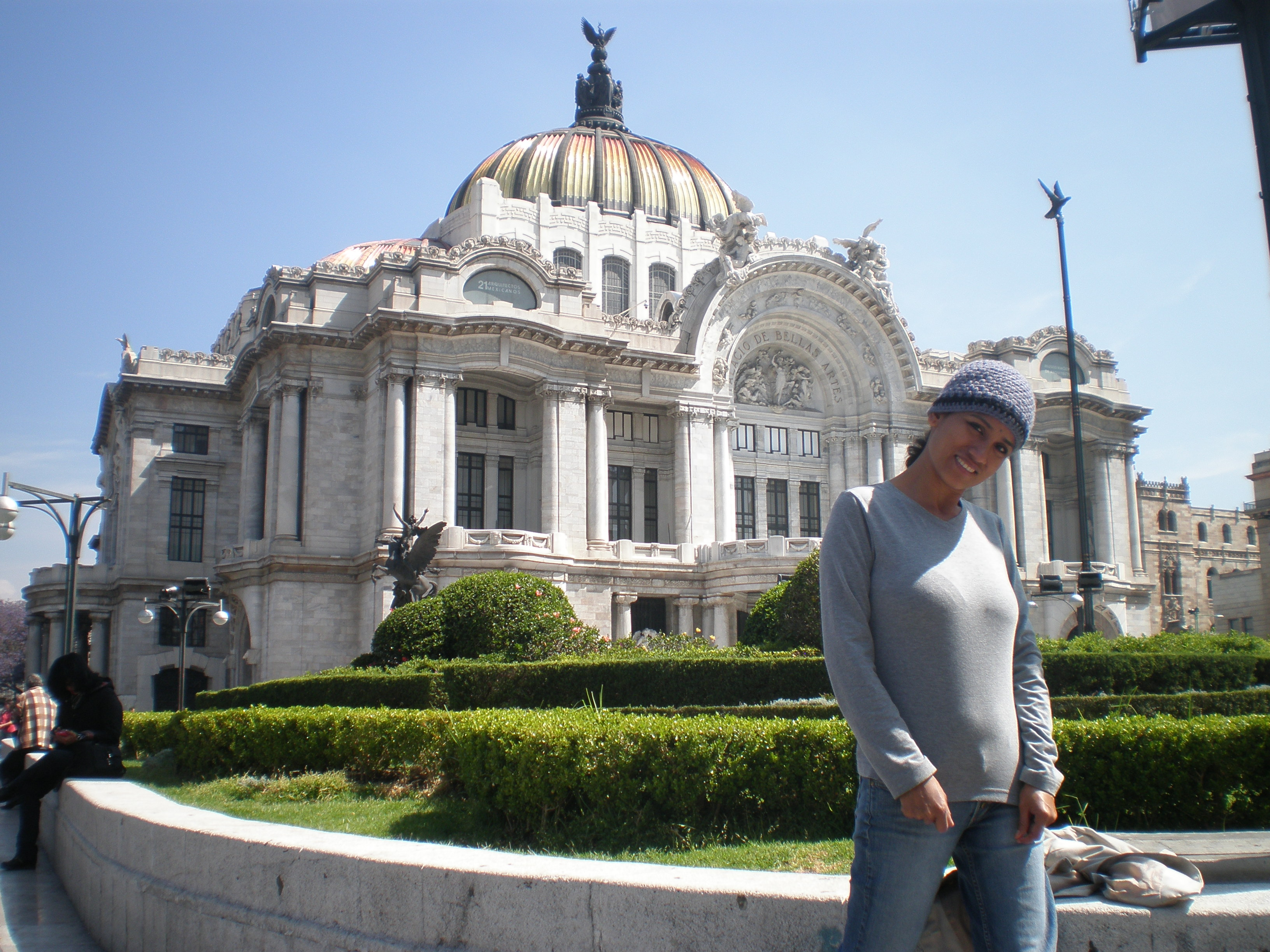 Cris at the Palace of Fine Arts, Mexico City